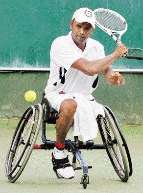 Upali Rajakaruna Upali Rajakaruna the best wheelchair Tennis Player in Sri Lanka