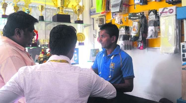 Upul Chandana From buying wickets to selling sports goods a leggie