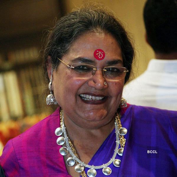 Usha Kalyanam movie scenes Usha Uthup clicked during the audio release function of Tamil movie Aaha Kalyanam held at The Leela Palace