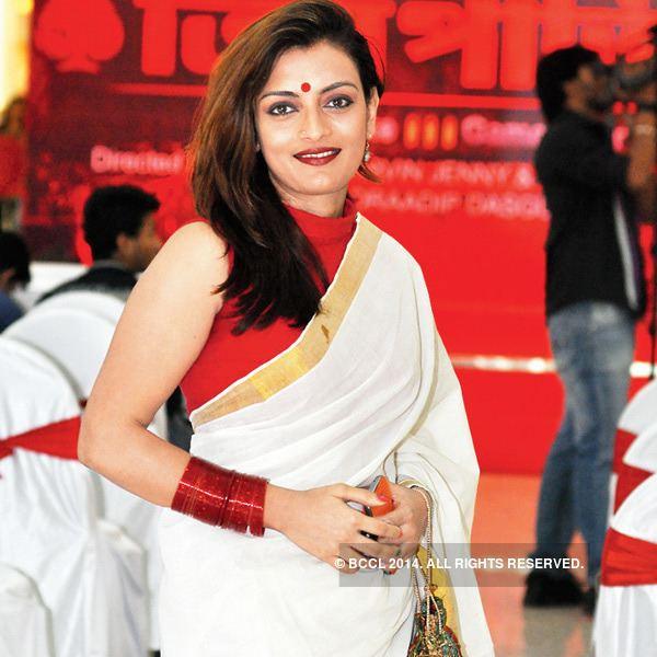 Ushasie Chakraborty Ushasie Chakraborty during the music launch of Teen Patti