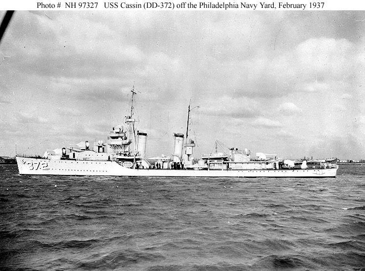 USS Cassin (DD-372) USN ShipsUSS Cassin DD372