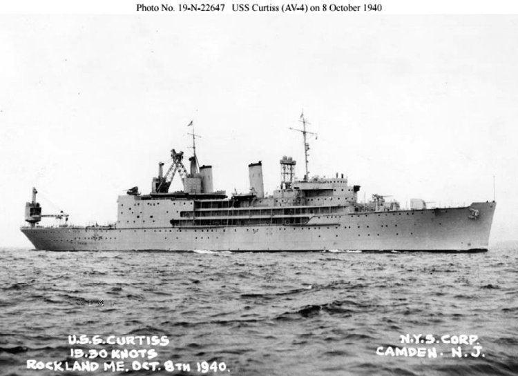 USS Curtiss (AV-4) Naval Warfare USS Curtiss AV4