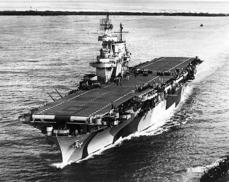 USS Enterprise (CV-6) USS Enterprise CV6 underway off Pearl Harbor Hawaii on August 2