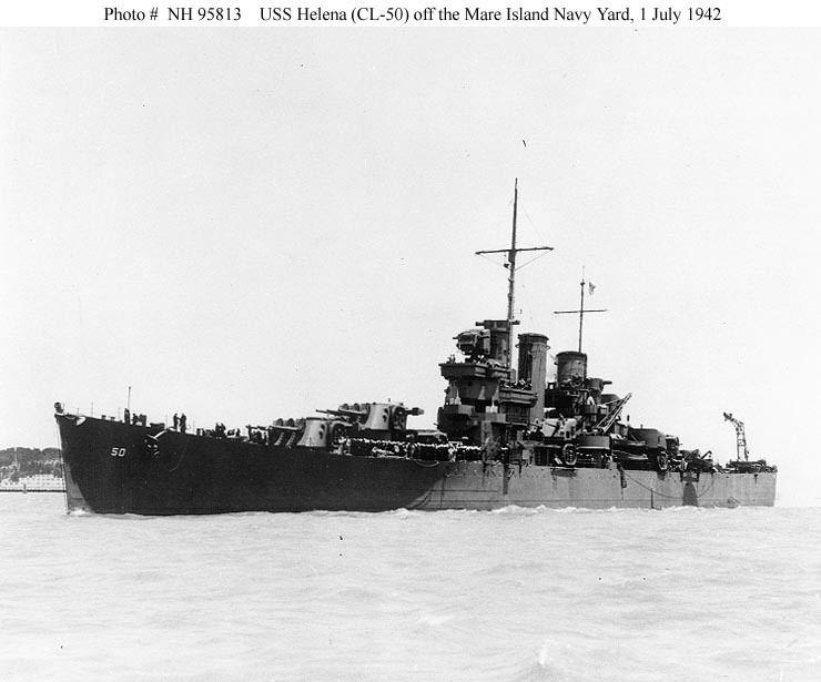 USS Helena (CL-50) Cruiser Photo Index CL50 USS HELENA Navsource Photographic