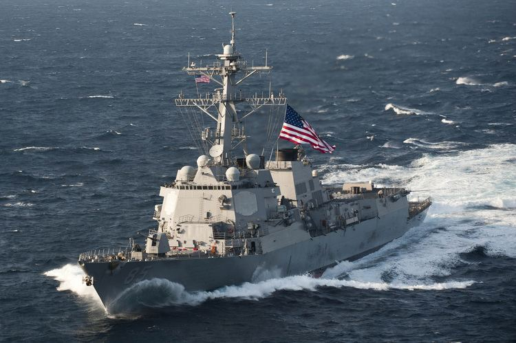 USS McCampbell FileUSS McCampbell DDG85 moves into formation East China Sea