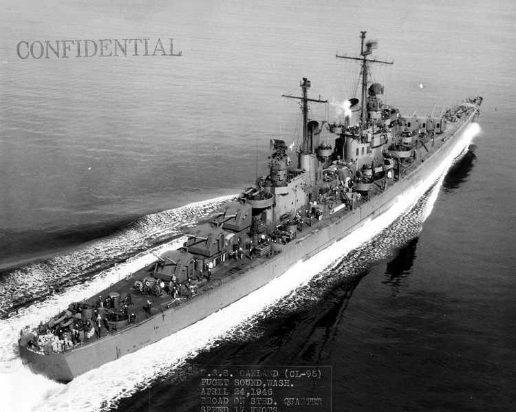 USS Oakland (CL-95) Cruiser Photo Index CLCLAA95 USS OAKLAND Navsource
