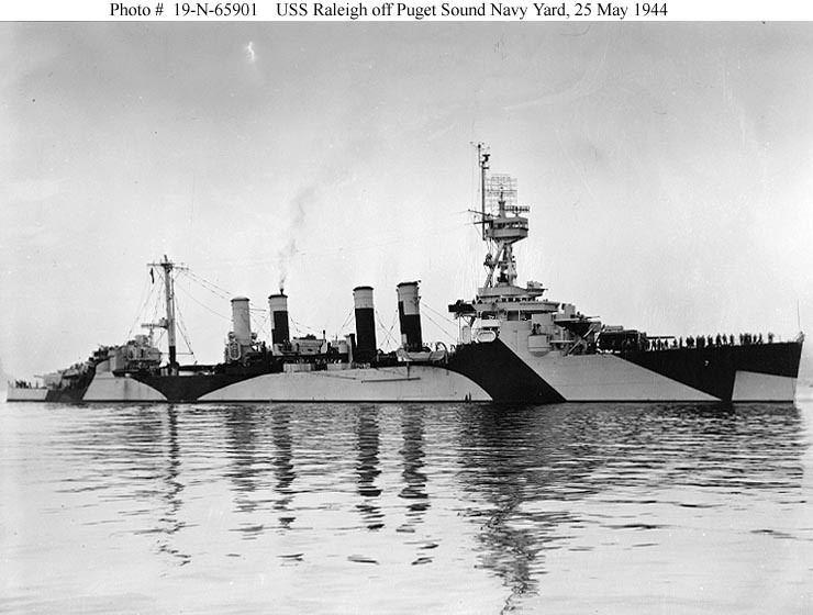 USS Raleigh (CL-7) Cruiser Photo Index CL7 USS RALEIGH Navsource Photographic