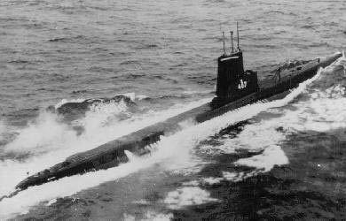 USS Sea Robin (SS-407) Sea Robin SS407 of the US Navy American Submarine of the Balao