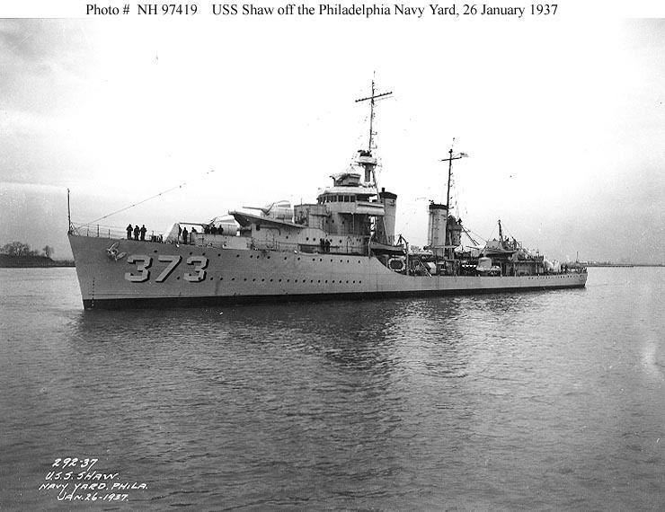 USS Shaw (DD-373) USN ShipsUSS Shaw DD373