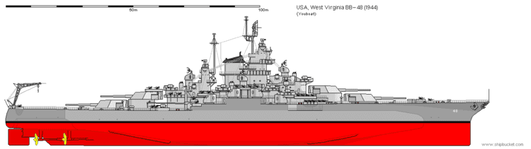 USS West Virginia (BB-48) USS West Virginia BB48 WWII Warships World of Warships