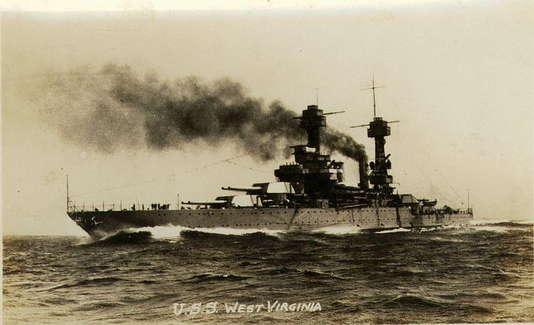 USS West Virginia (BB-48) FileUSS West Virginia BB48 1930sjpg Wikimedia Commons
