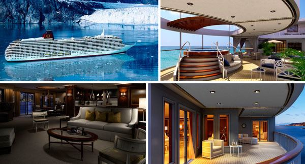 Utopia (cruise ship) The Most Luxurious Residential Cruise Liners in the World
