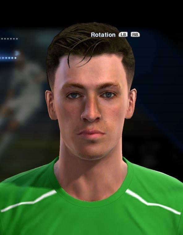 Valentin Belon Belon Valentin face for Pro Evolution Soccer PES 2013 made