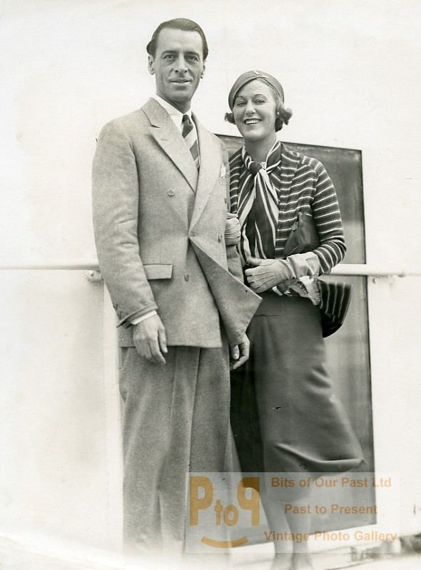Valentín Parera Ocean Liner Ile de France Mr Mrs Valentin Parera Grace Moore Old
