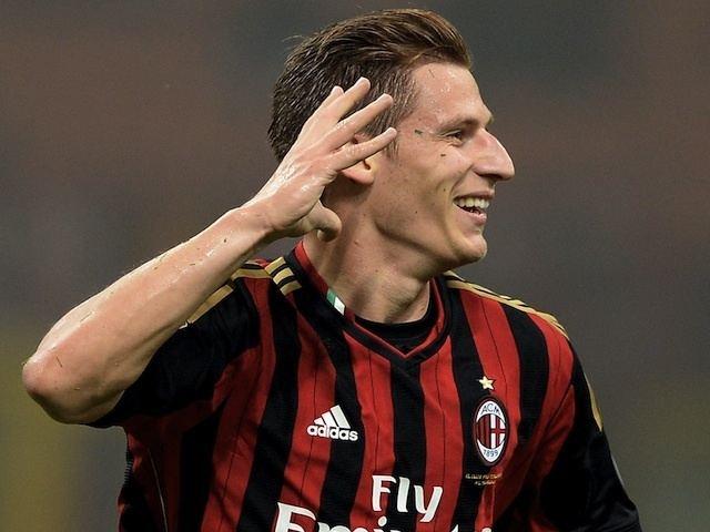 Valter Birsa Valter Birsa of AC Milan celebrates scoring the first goal