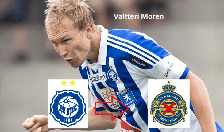 Valtteri Moren HJK Helsinki central defender Valtteri Moren moves to
