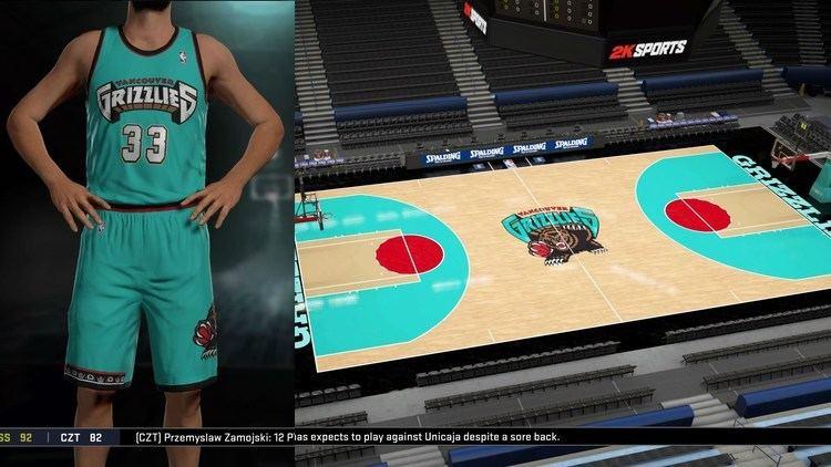 Vancouver Grizzlies Vancouver Grizzlies Jerseys amp Arena Tutorial NBA 2K16 YouTube