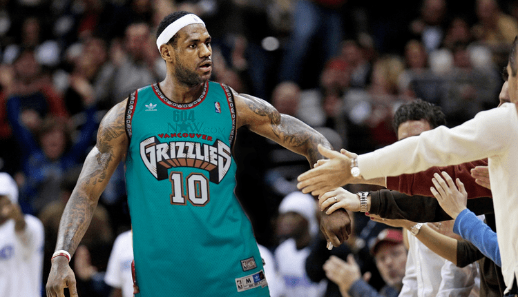 Vancouver Grizzlies This Is How LeBron James Would Look In A Vancouver  Grizzlies Jersey 1f3ee54c2