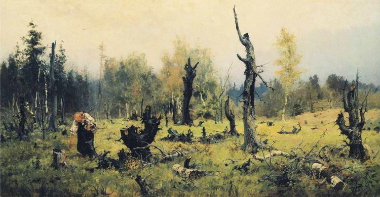Vasily Polenov The Burnt Forest Vasily Polenov WikiArtorg