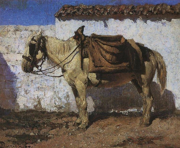 Vasily Polenov White Horse Normandy Vasily Polenov WikiArtorg
