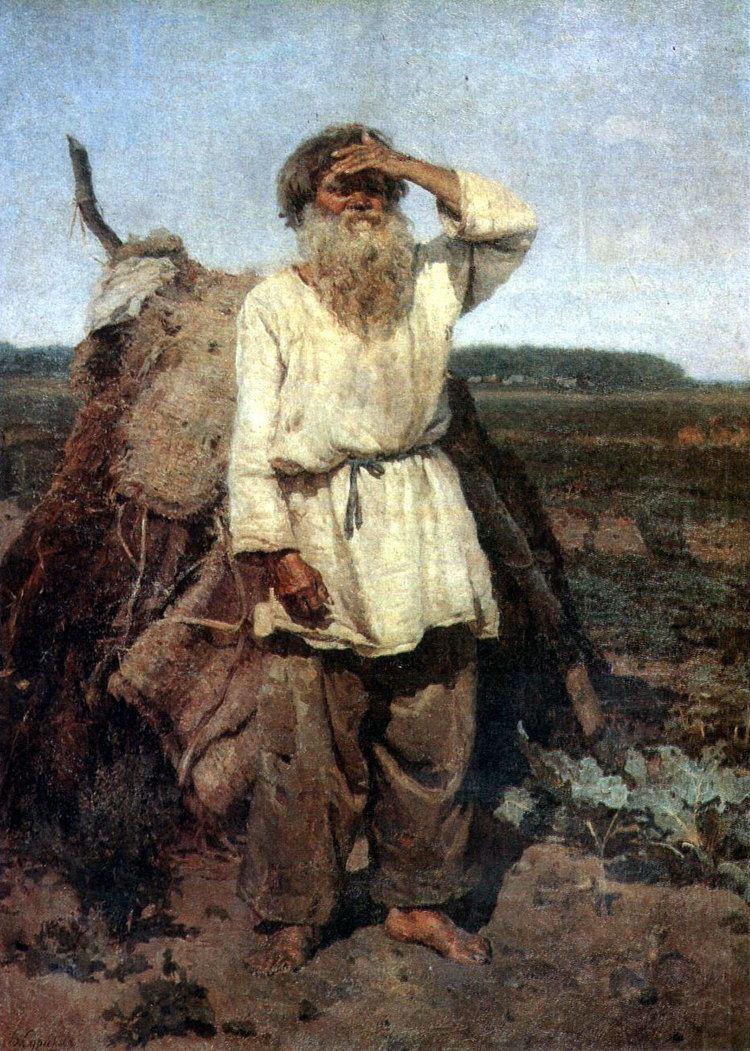 Vasily Surikov The old gardener Vasily Surikov WikiArtorg