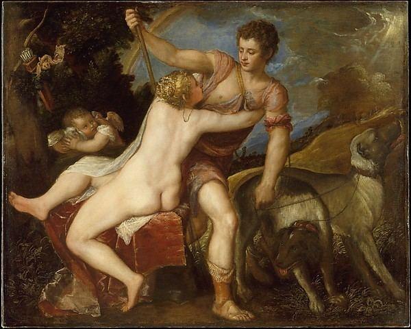 Venus and Adonis (Titian, Madrid) Titian Tiziano Vecellio Venus and Adonis The Met
