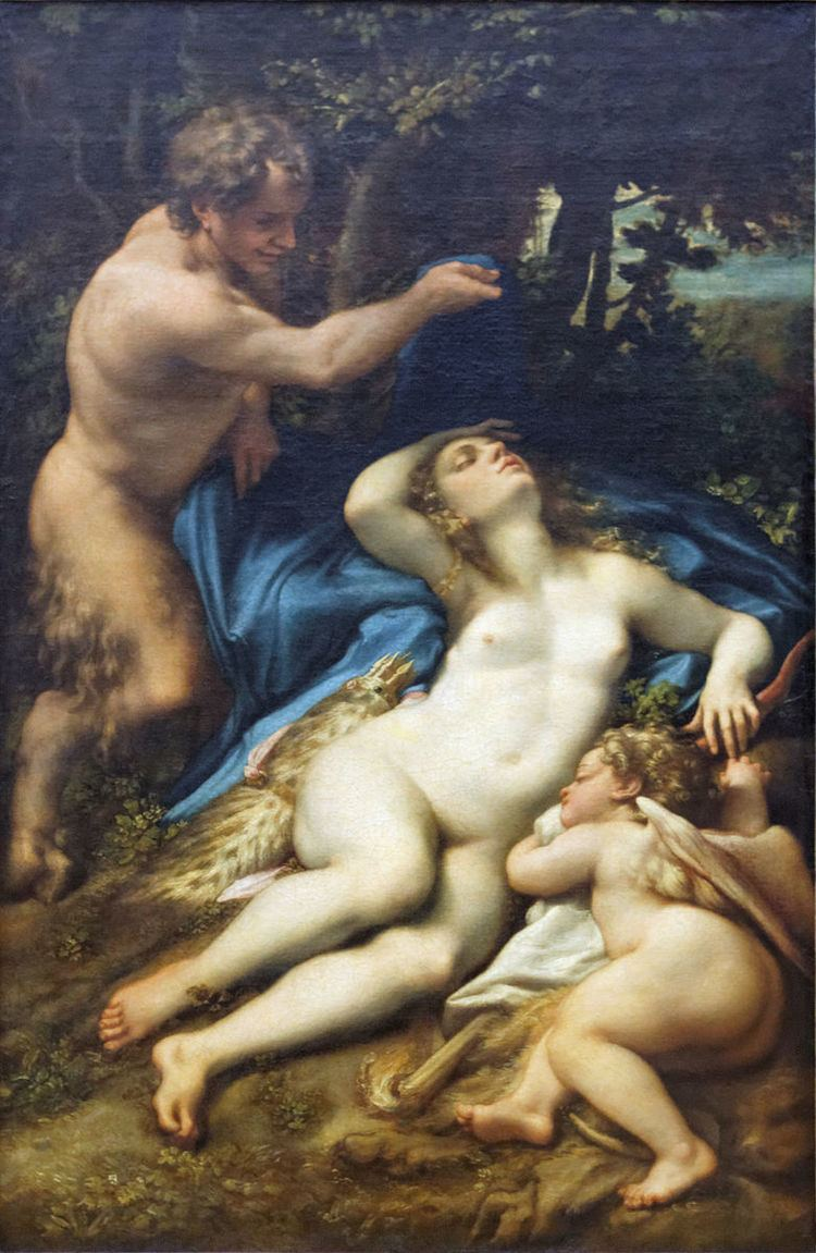 Venus and Cupid with a Satyr