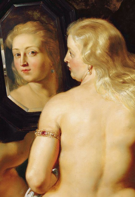 Venus with a Mirror Rubens Detail from Venus at a Mirror 1615 ThyssenBornemisza