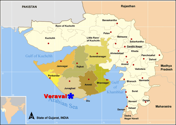 Veraval in the past, History of Veraval