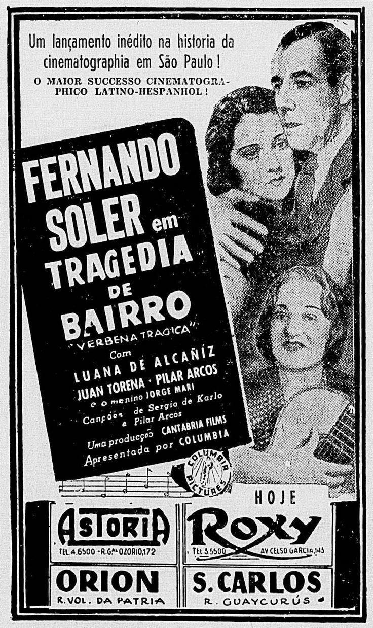 Verbena Tragica 1940 VERBENA TRAGICA Charles Lamont CORREIO PAULISTANO