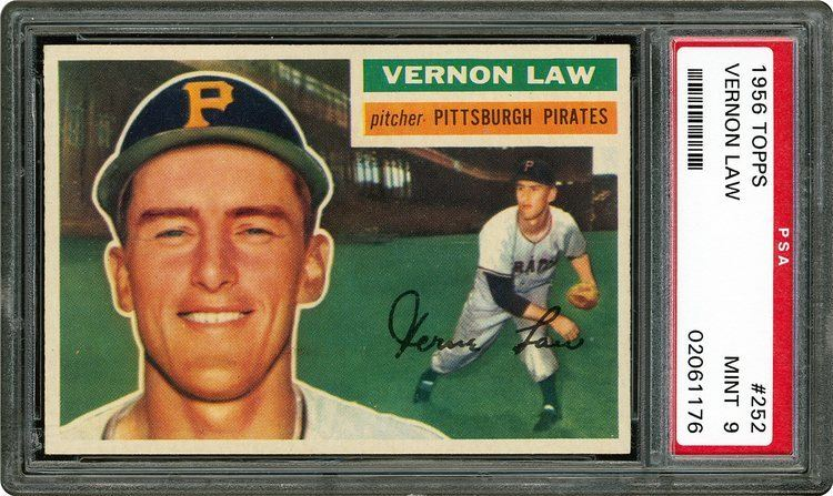 Vern Law 1956 Topps Vernon Law PSA CardFacts