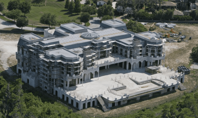 Versailles house Boom years are back Construction resumes on America39s largest house