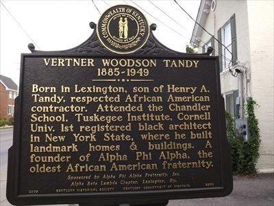 Vertner Woodson Tandy Vertner Woodson Tandy 1st registered black architect in New York