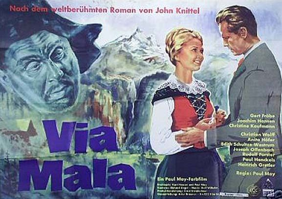Via Mala (1961 film) VIA MALA de Paul May avec Gert Froebe 1961 CineFaniac