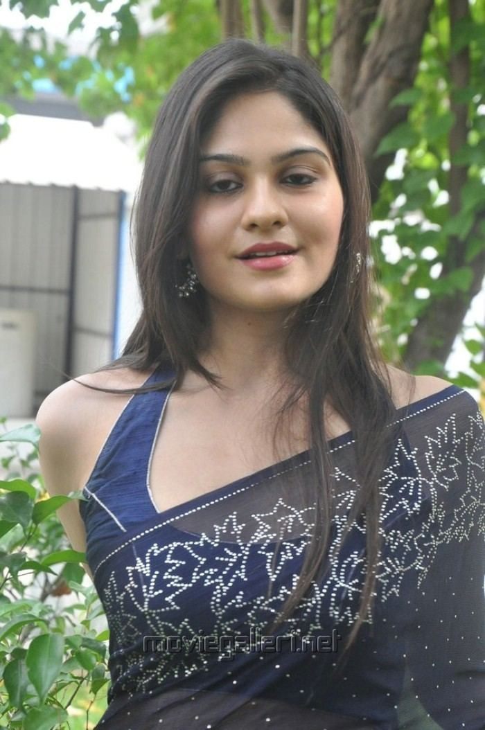 Vibha Natarajan Picture 383764 Actress Vibha Natarajan Hot Blue Saree Photos New