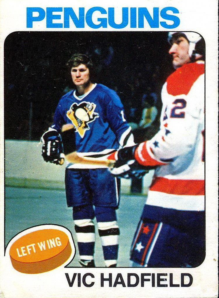 Vic Hadfield Vic Hadfield Player39s cards since 1974 1977 penguins