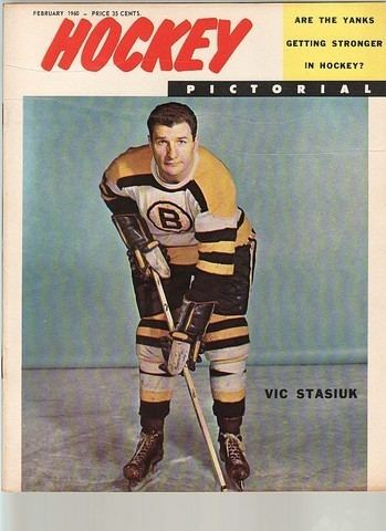 Vic Stasiuk Ice Hockey Mag 1960 Hockey Pictorial Vic Stasiuk cover
