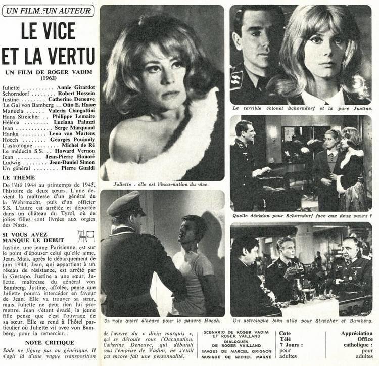 Vice and Virtue Base de donnes de films franais avec images