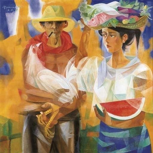 Vicente Manansala Vendors from the market place Vicente Manansala