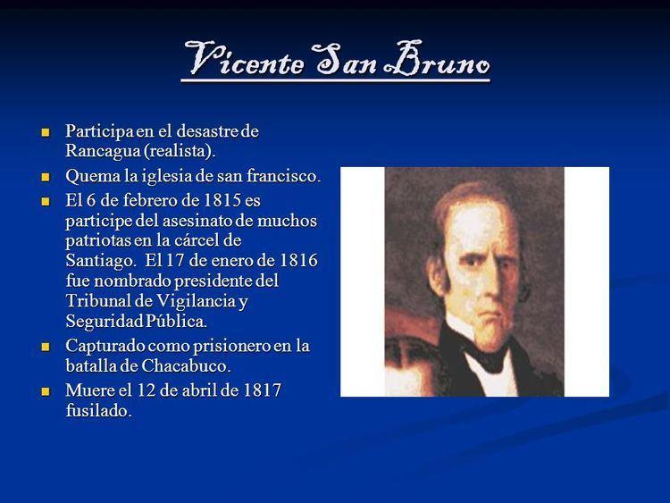 Vicente San Bruno Reconquista de Chile Integrantes Bastin Sez Maximiliano rodrigues