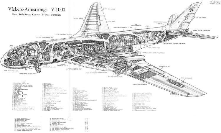 Vickers V-1000 VickersV100018JPG 1512910 Airliner Cutaways Pinterest