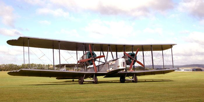 Vickers Vimy Flying in the Vickers Vimy