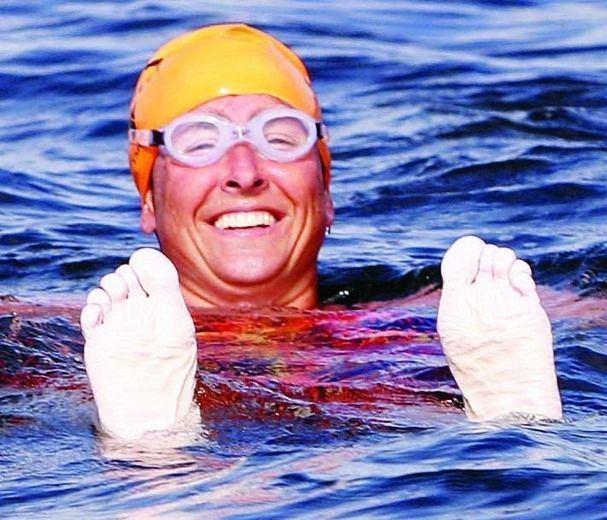 Vicki Keith Vicki Keith celebrates Great Lakes swims Napanee Guide