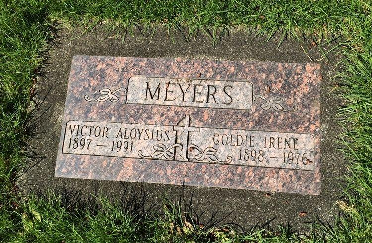 Victor Aloysius Meyers Victor Aloysius Meyers 1897 1991 Find A Grave Memorial