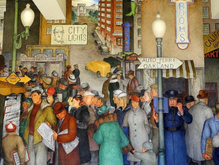 Victor Arnautoff Coit Tower Murals City Life by Victor Arnautoff 02