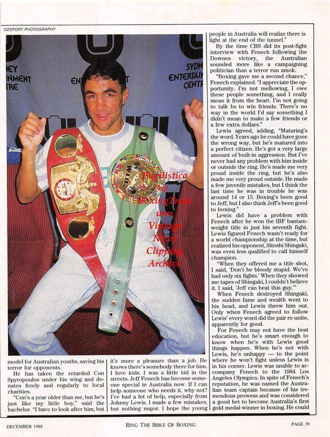 Victor Callejas News Clipping 1227 Jeff Fenech vs Victor Callejas