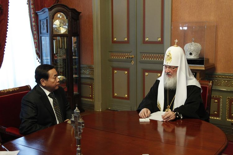 Victor G. Garcia III His Holiness Patriarch Kirill receives H E Victor G Garcia III