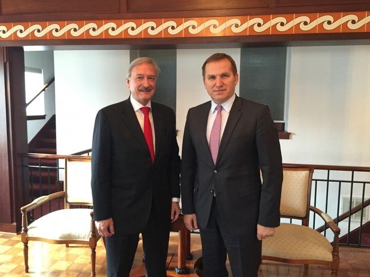 Victor Jackovich Ambassador of Ukraine Olexander Motsyk met with Victor Jackovich