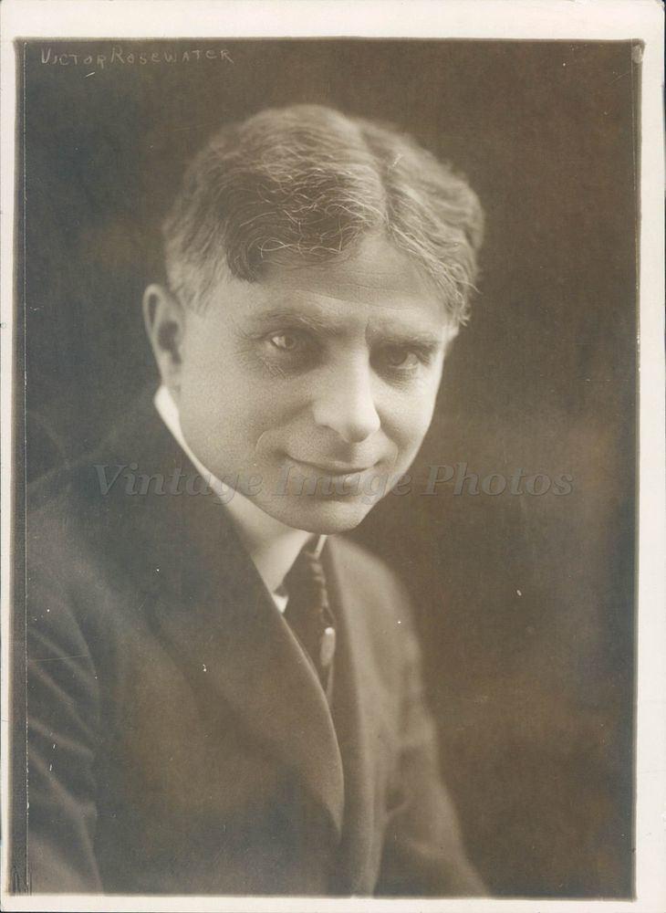 Victor Rosewater 1918 Photo Victor Rosewater Editor Omaha Jewish Politician NE
