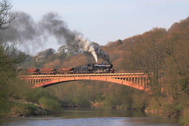 Victoria Bridge, Worcestershire Locomotive 43106 at Victoria Bridge C Keith Wilkinson Geograph